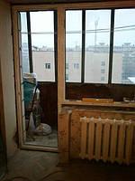Установка балконного блока Рехау - бригада №9