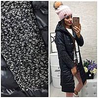 Стильная куртка пальто плащевка с букле, фото 1