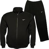 Большой размер: 52/54/56/58. Мужской спортивный костюм Nike / Трикотаж-пике (лакост) - черный