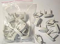 Заглушка в электрическую розетку пластмассовая новая 50 шт в упаковке