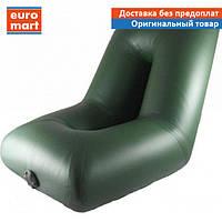 Надувное кресло Kolibri для лодки ПВХ зеленое, ДхШхВ 53х58х60 см