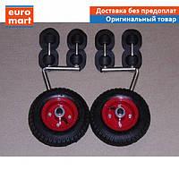 Надувные транцевые колеса для надувной лодки пвх до 60 кг, Гребнушка Base | колеса на транец надувной лодки