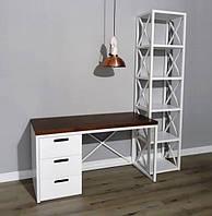 Письменный стол и стеллаж в стиле лофт (комплект мебели) Loft.