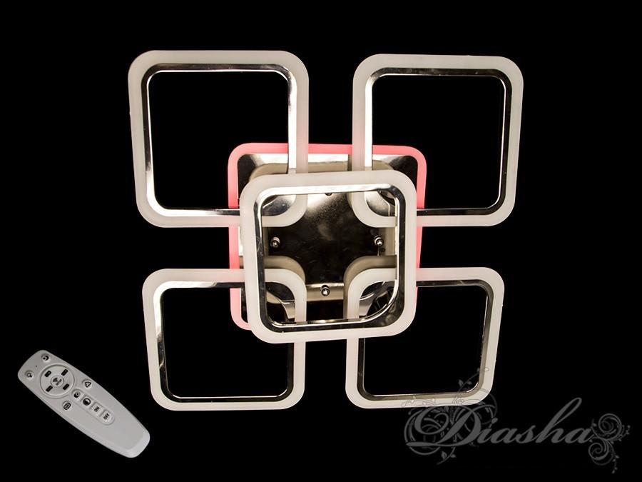 Світлодіодна люстра в кольорі чорний хром A8060/4+1BHR LED 3color dimmer
