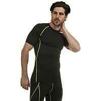 Компрессионный комплект белья мужской (футболка с коротким рукавом и шорты) LD-1103-LD-1502-LG