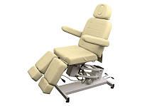 Педикюрное кресло кушетка косметологическая на электроуправлении 3706 (1 мотор) Бежевый