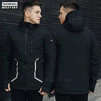 Куртка ветровка мужская черная Стафф Staff Softshell softshell black line