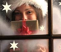 """Наклейка на стену """"Рождественские звёзды"""" #3"""