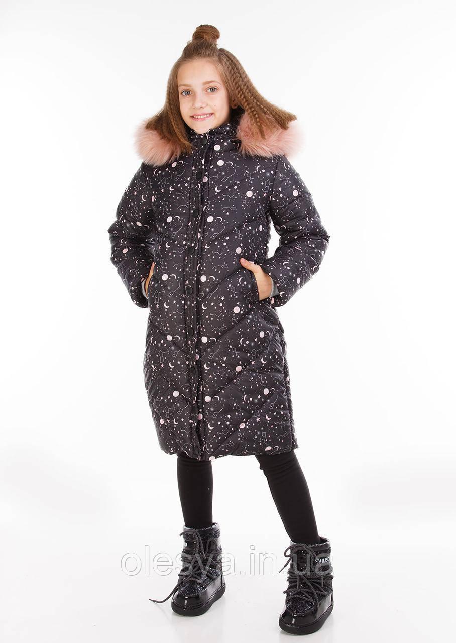 Удлиненная, стильная и очень теплая куртка для девочки Джудит Размеры 122- 146
