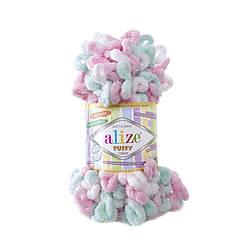 Пряжа фантазийная Alize Puffy Color № 6052
