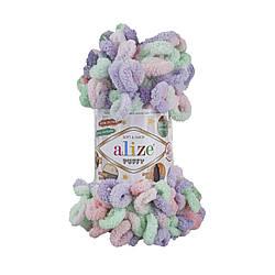 Пряжа фантазийная Alize Puffy Color № 5938