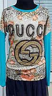 Кофта Gucci для девочки голубого цвета