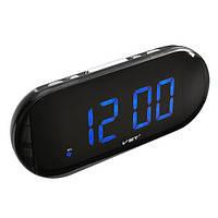 Часы настольные электронные сетевые 717-5 синие, USB