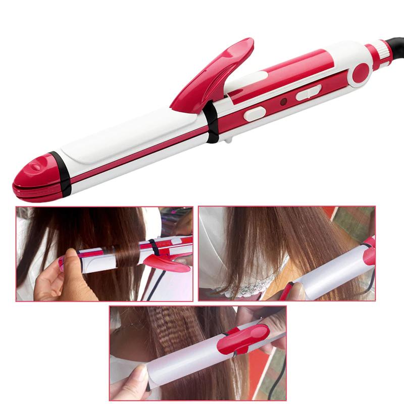 Плойка стайлер для волос Gemei GM 2921 3 в 1: утюжок - щипцы - гофре | выпрямитель Пластины для гофрирования