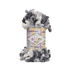 Пряжа фантазийная Alize Puffy Color № 5925