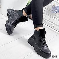 Ботинки женские Luis черные 8568, фото 1