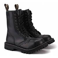 Ботинки STEEL 105/106OCW-BLK 10 люверсов (зимние на шерсти), Размер 36