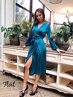 """Платье """"Виола"""" шелк с запахом, фото 1"""