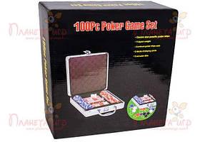 Покерный набор 100 фишек по 11,5 г (алюминиевый кейс) (РК-718680)