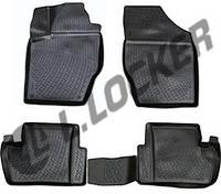 Коврики в салон Citroen C4 II sedan (10-) (полимерные) L.Locker