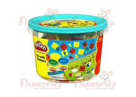 """Набор для лепки Play-Doh. Ведёрко с формочками """"Считалочка"""" (РК-718741)"""