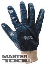 """MasterTool  Перчатки масло-бензостойкие утепленные, нитриловое покрытие, вязаный манжет (синие),10,5"""" 104-108 г, Арт.: 83-0406"""