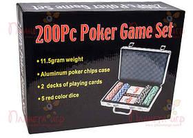 Покерный набор 200 фишек по 11,5 г (алюминиевый кейс) (РК-718833)