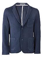 Пиджак вязаный темно-синий S, Синий