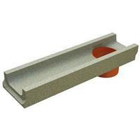 Лоток водосточный бетонный DN100 H60 500*140*60 мм с отводом вниз