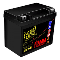 Мотоаккумулятор FIAMM 14Ah 230А FTX16-BS