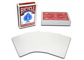 Карты для фокусов Bicycle Blank Face (red) (РК-719318)