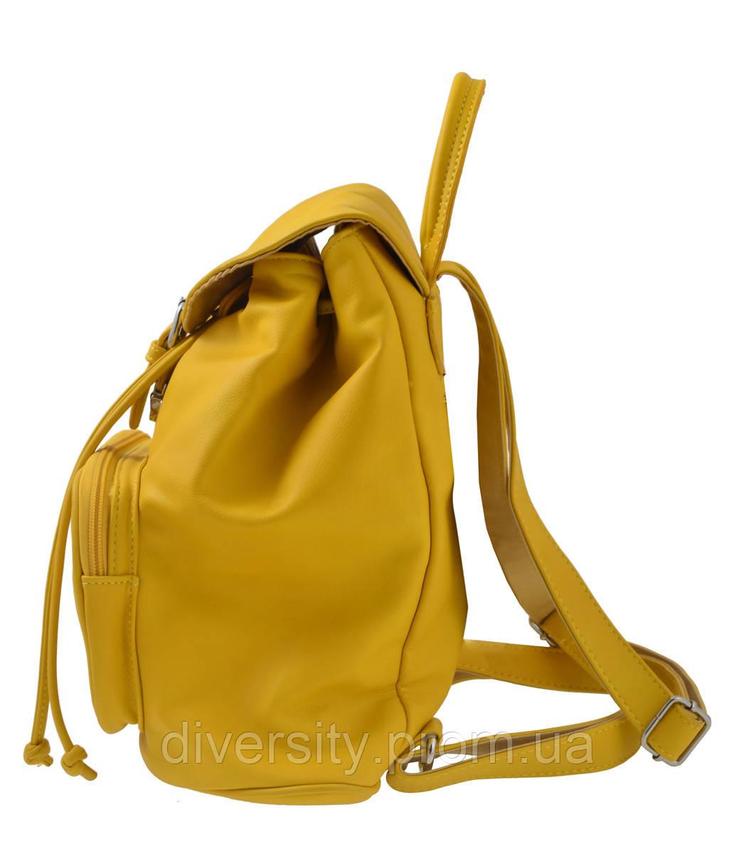 Сумка-рюкзак  YES,  желтый,  31*12*30см