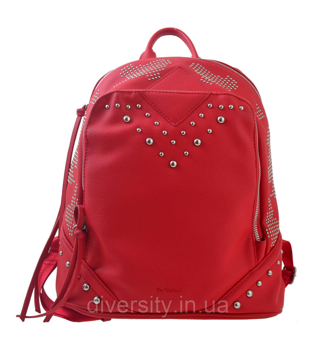 Сумка-рюкзак  YES,  красный,  29*14*33см
