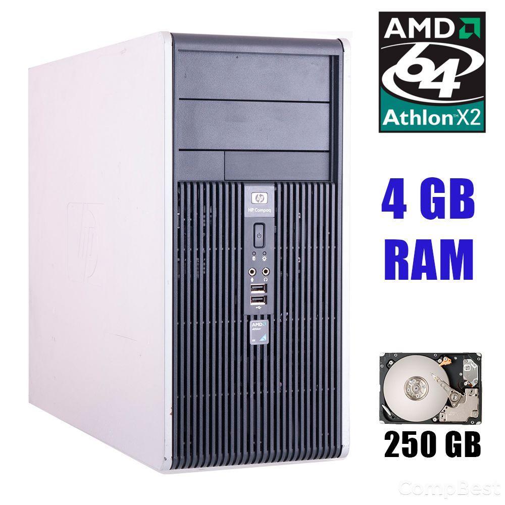 HP dc5850 Tower / AMD Athlon 64 X2 5000 (2 ядра по 2.2GHz) / 4GB DDR2 / 250GB HDD