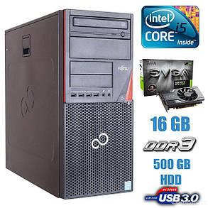 Fujitsu P720 Tower / Intel Core i5-4430 (4 ядра по 3.0 - 3.2 GHz) / 16GB DDR3 / 500GB HDD / nVidia GeForce GTX 1060 6GB GDDR5 / USB 3.0, фото 2