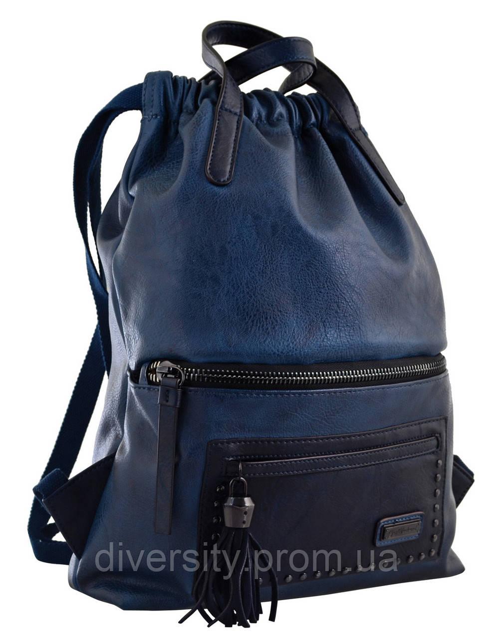 Женский рюкзак YES YW-11,  джинсовий синий