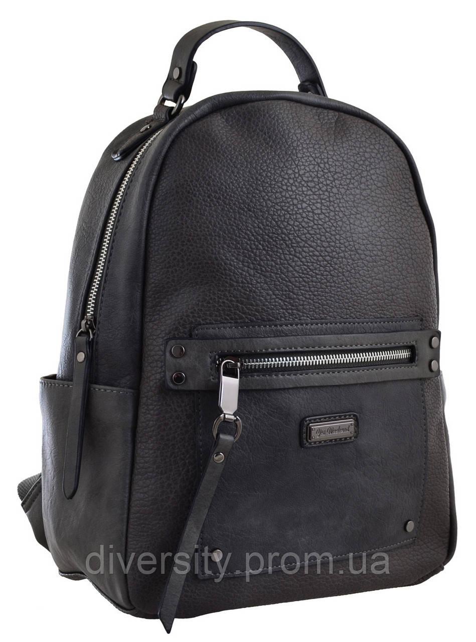 Женский рюкзак YES YW-14,  темно-серый