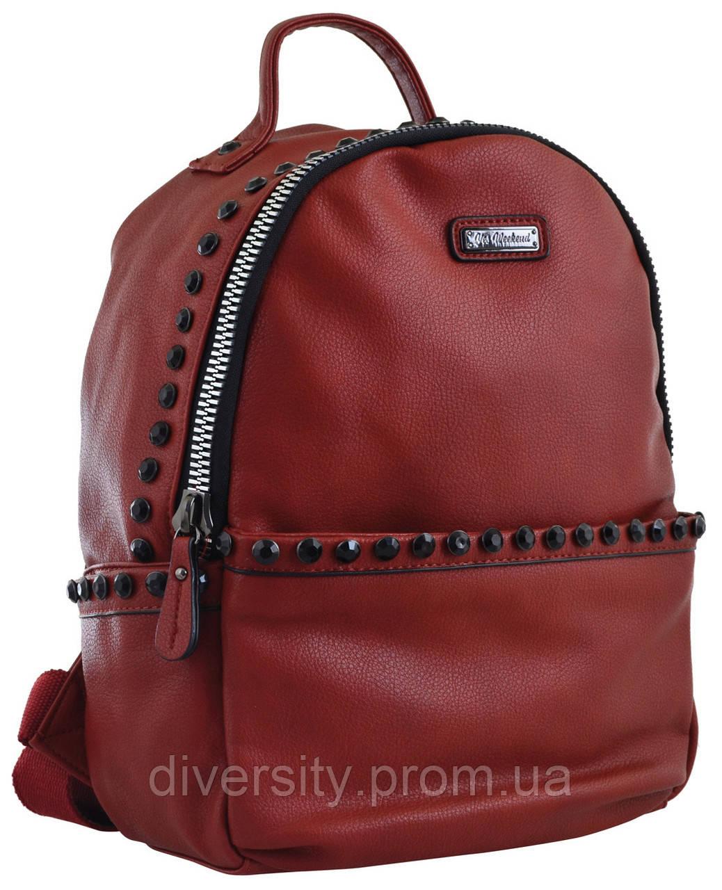 Женский рюкзак YES YW-15, кирпичный