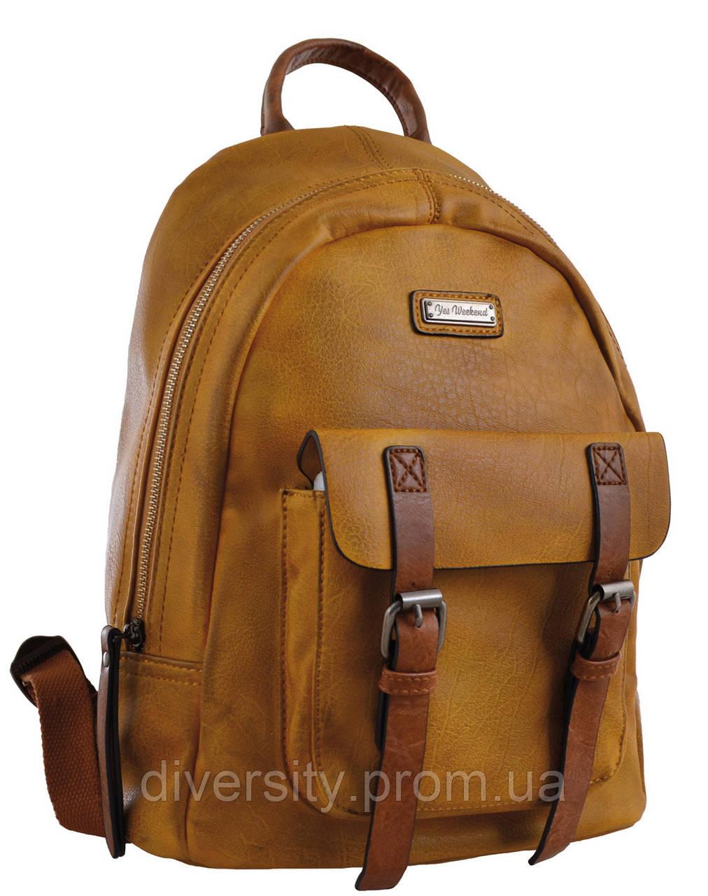 Женский рюкзак YES YW-18, горчичный