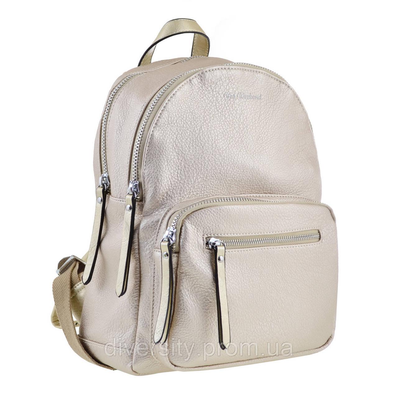 Женский рюкзак YES YW-43 «Jasmine» золотой