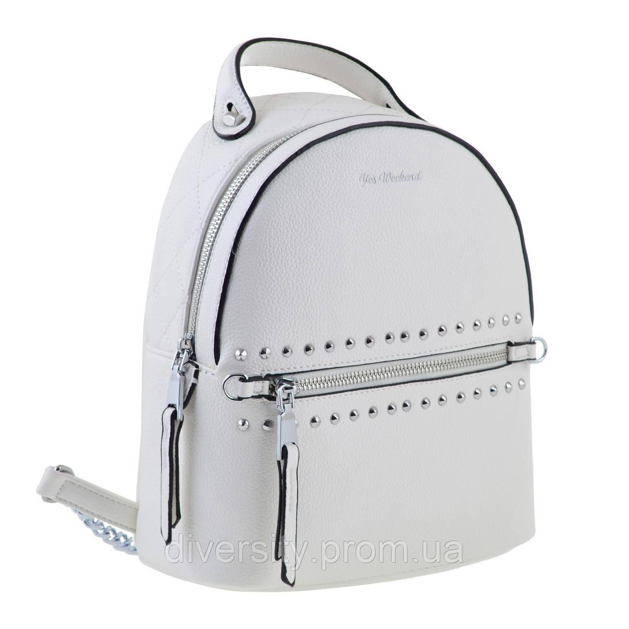 Женский рюкзак YES YW-47  «Benito»белый