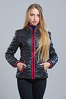 Куртка женская демисезонная черная №7 WW 42-50 размеры
