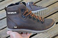 Мужские кожаные зимние ботинки  Caterpillar, фото 1