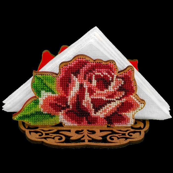 Набор для вышивки бисером по дереву Роза