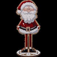 Набор для вышивки бисером по дереву Дед Мороз