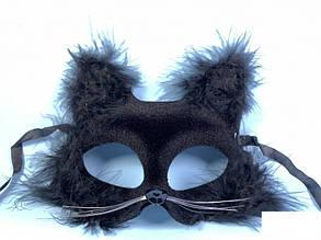 Маска бархатная Кошка с пухом