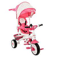 Bелосипед трехколесный  Best Trike DT 128 с пластиковыми колесами Розовый  47770