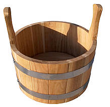 Шайка дубова для бані та сауни 5 літрів.