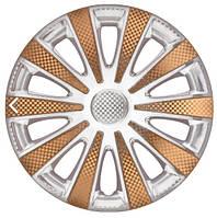 Колпаки на колеса R13 белые + золото, Star Carat Super White Gold (5399) - комплект (4 шт.)