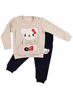 Спортивный костюм для девочки Breeze Мишутка бежевый 10312
